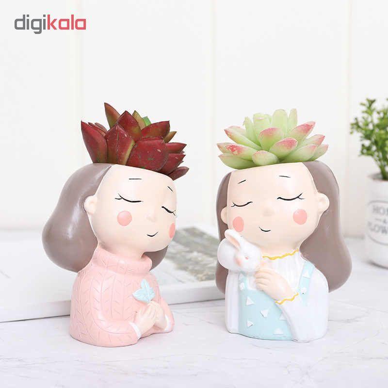 گلدان طرح دختران زمستانی کد Gw01 مجموعه 4 عددی main 1 6