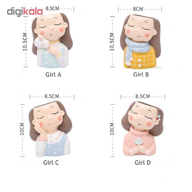 گلدان طرح دختران زمستانی کد Gw01 مجموعه 4 عددی main 1 8