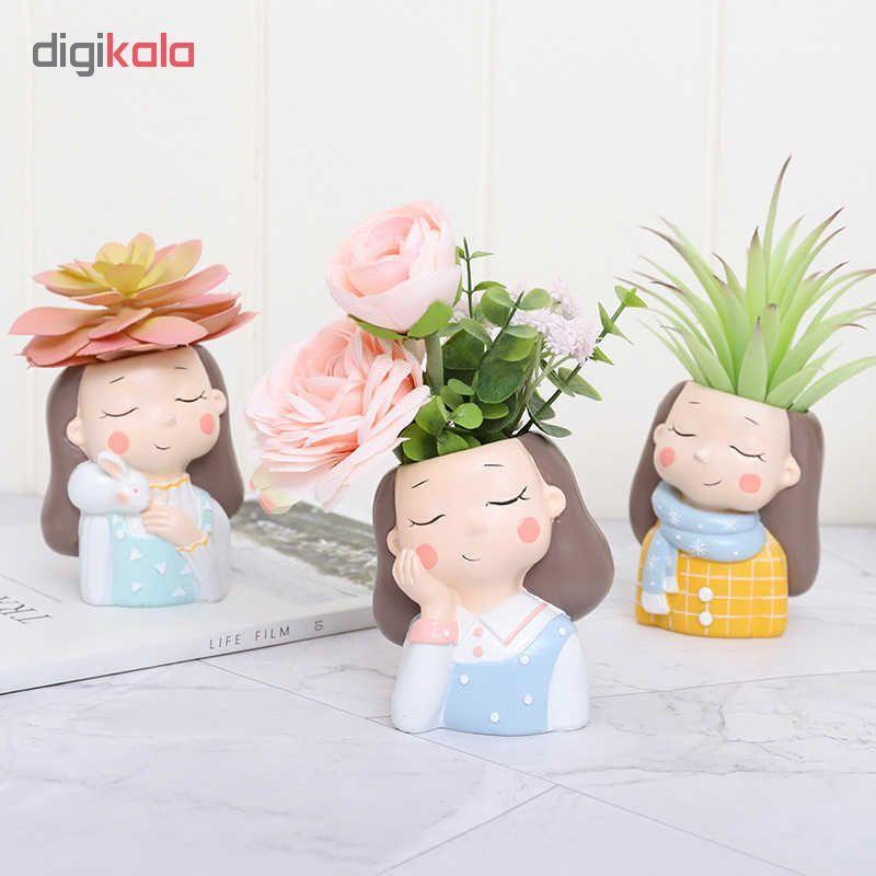 گلدان طرح دختران زمستانی کد Gw01 مجموعه 4 عددی main 1 9