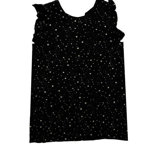 تاپ زنانه طرح ستاره رنگ مشکی