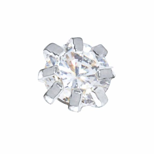 پیرسینگ بینی نقره زنانه ترمه 1 طرح الماس کد PRS005