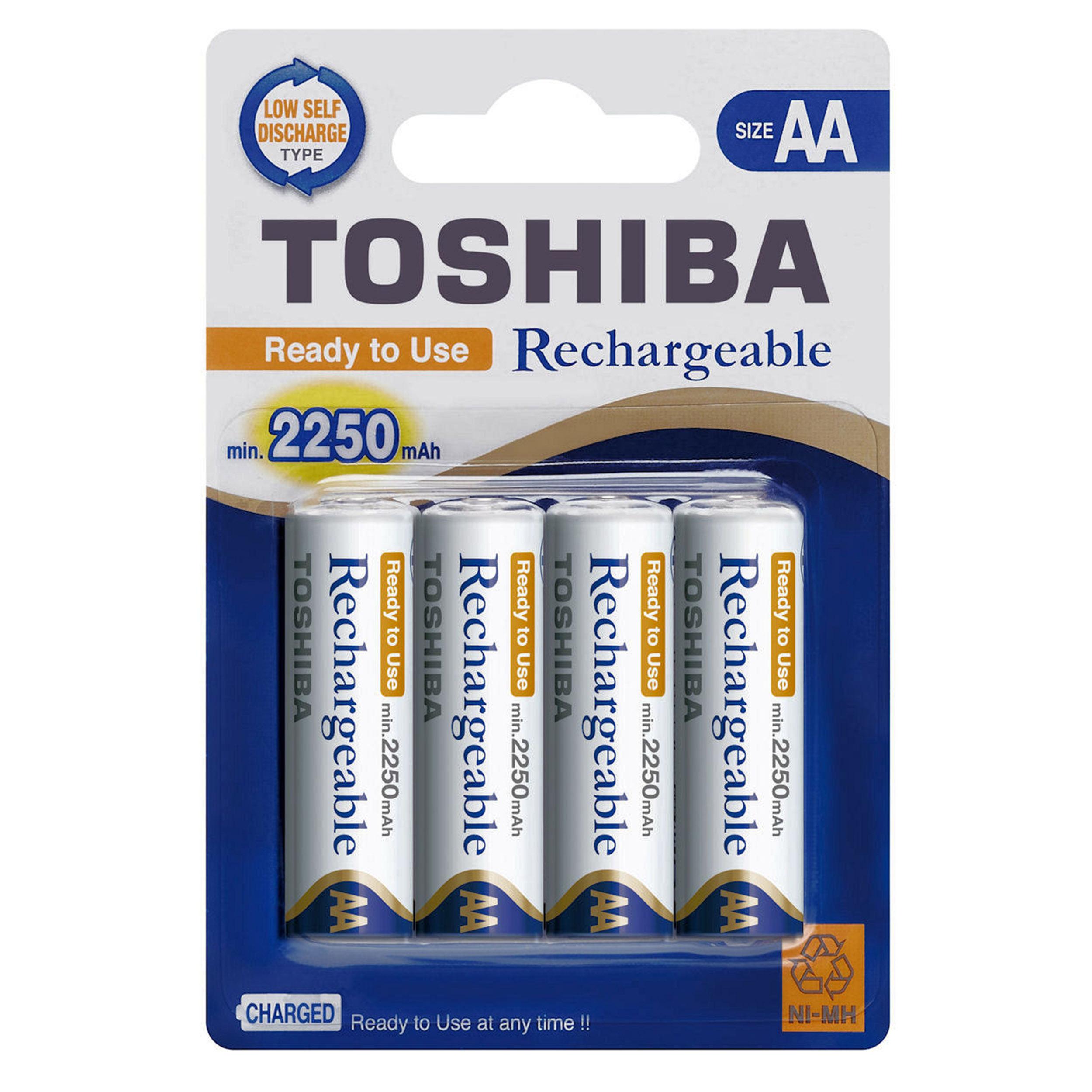 باتری  قلمی قابل شارژ توشیبا کد 2250 بسته دو عددی