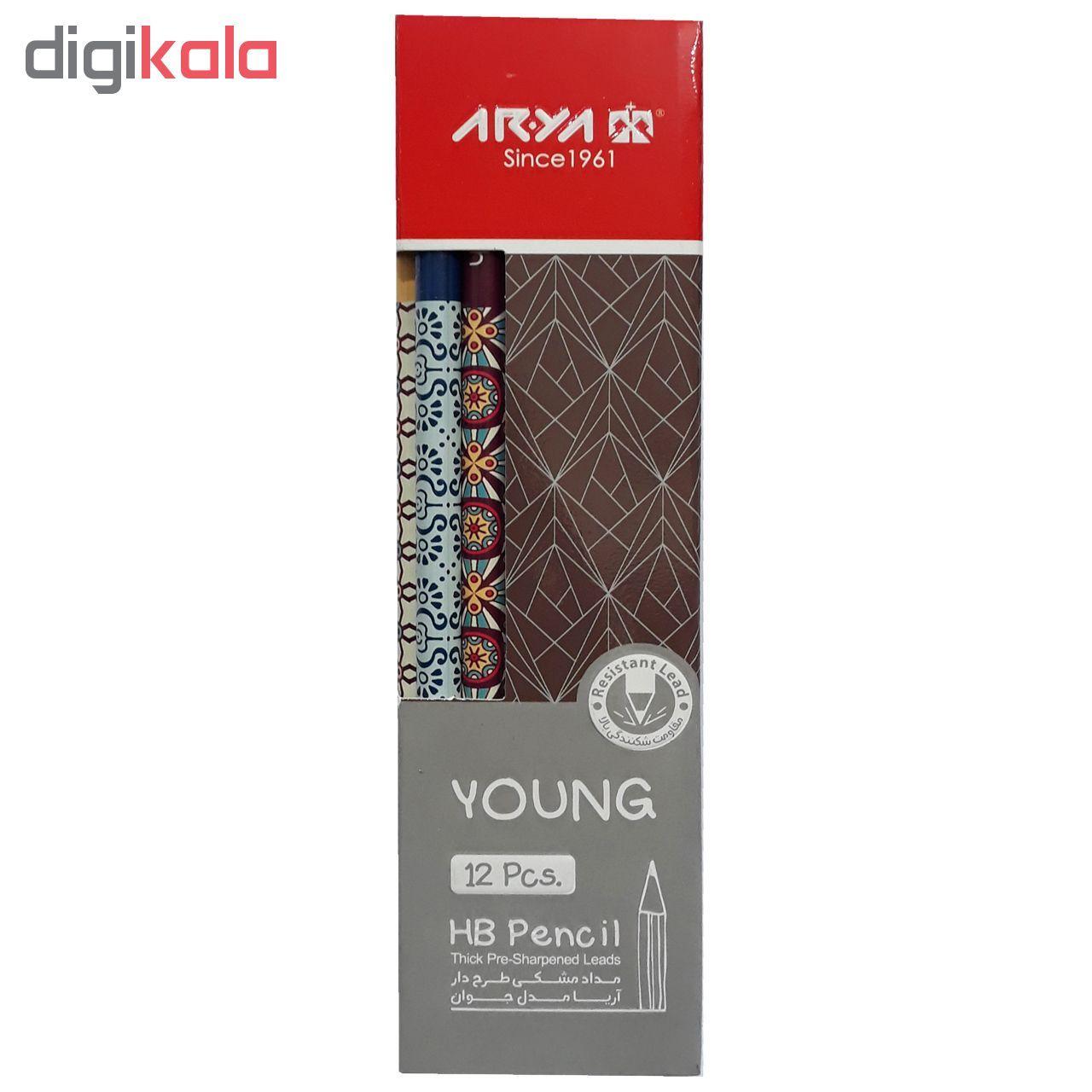 مداد مشکی آریا مدل YOUNG کد A7 بسته 12 عددی main 1 1