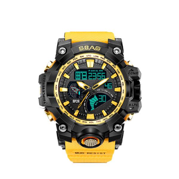ساعت مچی عقربه ای مردانه اِسباُ مدل 8005y-H رنگ زرد