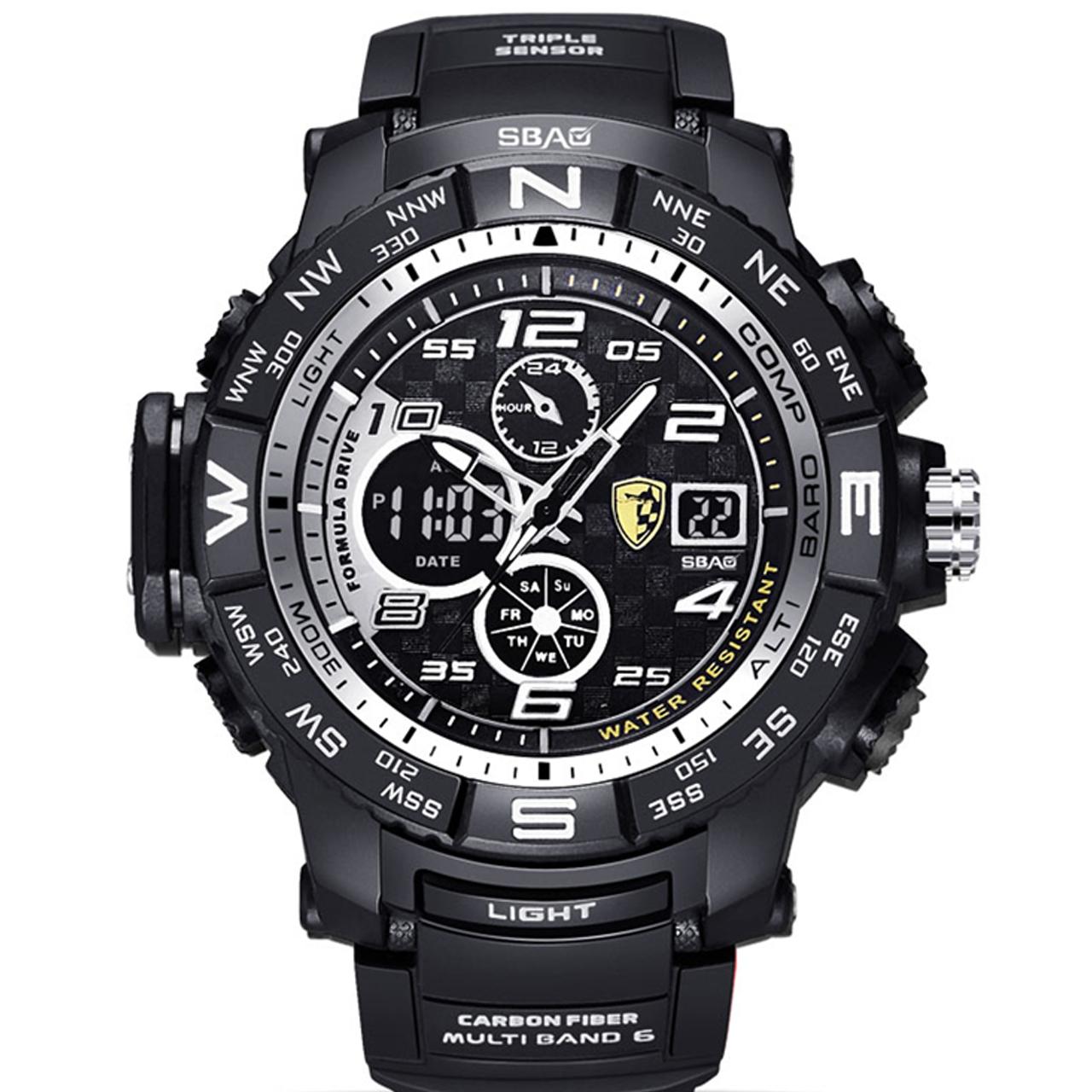 ساعت مچی عقربه ای مردانه اِسباُ مدل 8006W-2