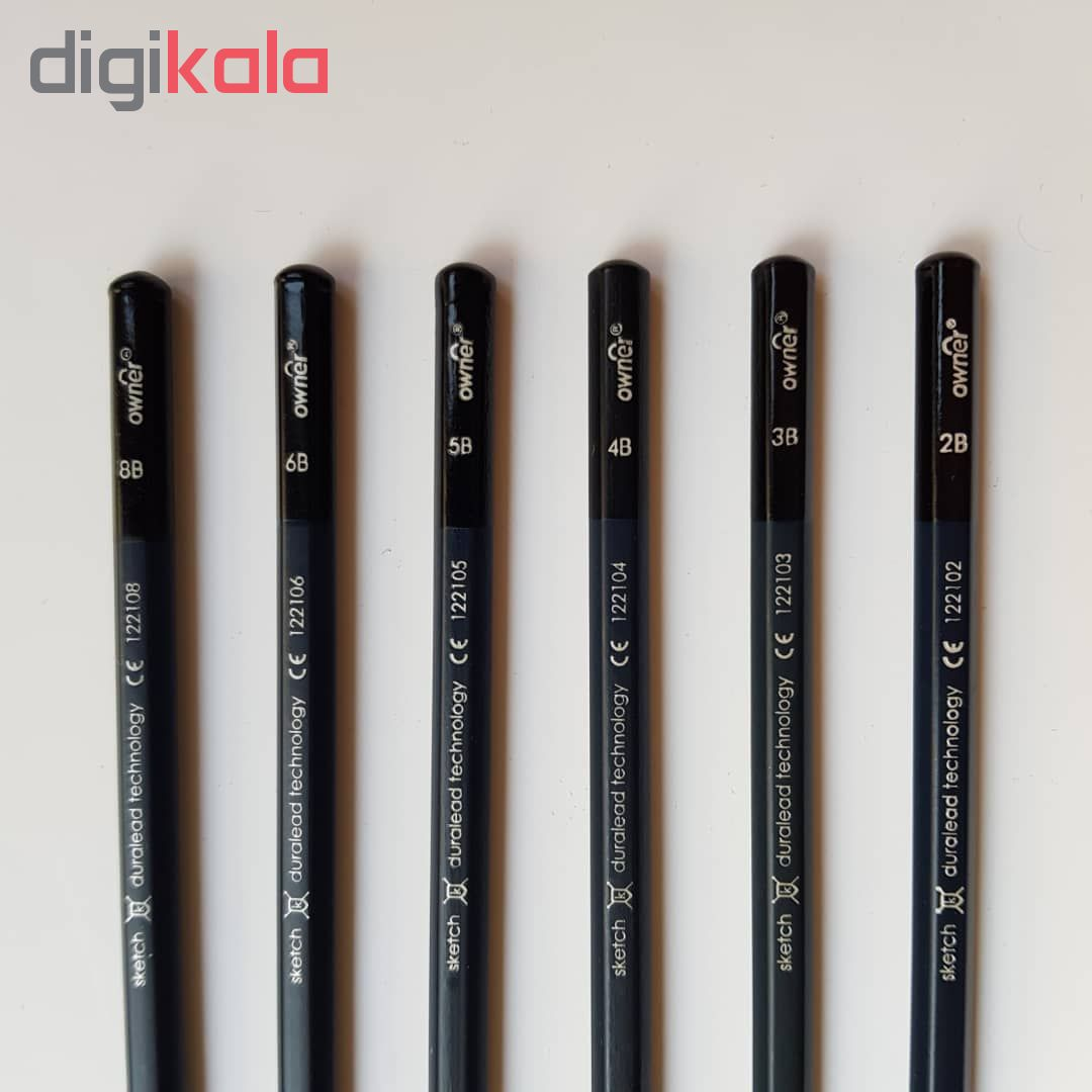 قیمت خرید مداد طراحی اونر مدل اسکچ اکادمی مجموعه ۶ عددی اورجینال