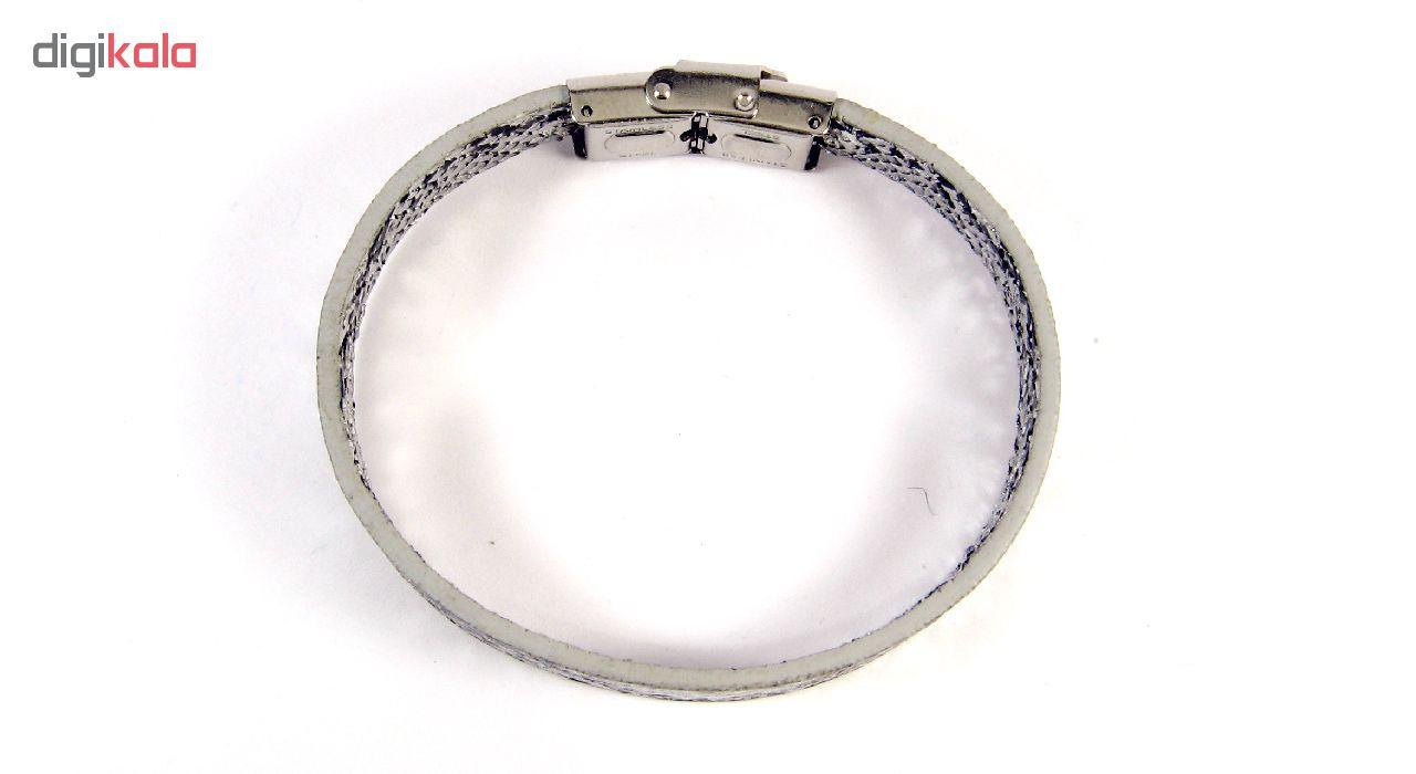 دستبند مردانه مانچو طرح پوست مار مدل bl4046