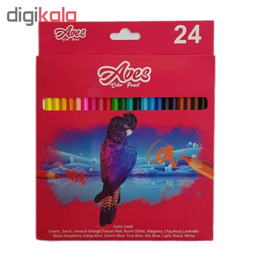 مداد رنگی ۲۴ رنگ اویز مدل فان main 1 2