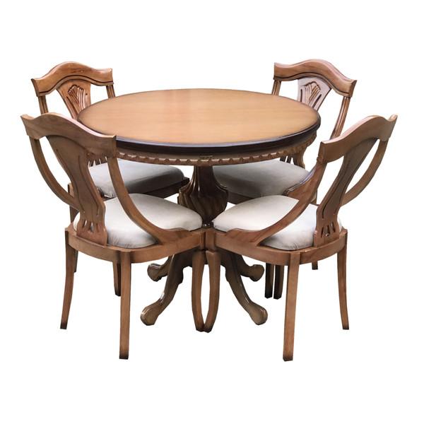 میز و صندلی ناهار خوری اسپرسان چوب مدل Sm41