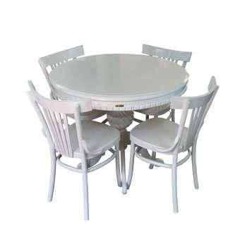 میز و صندلی ناهار خوری اسپرسان چوب مدل Sm42