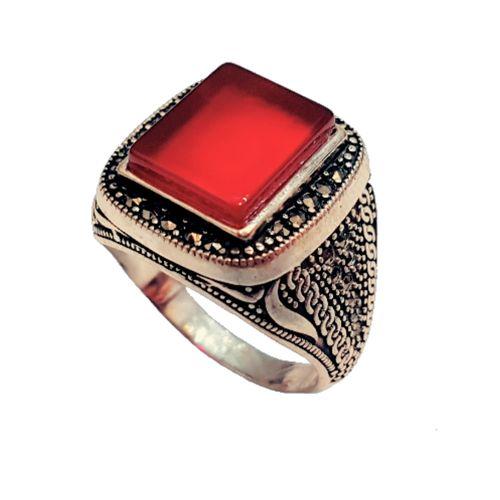 انگشتر نقره مردانه کد R670
