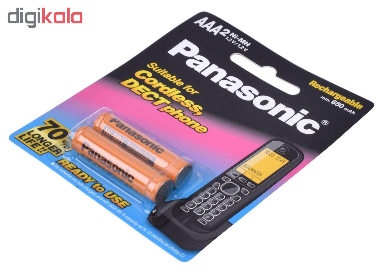باتری نیم قلمی قابل شارژ پاناسونیک مدل BK-4LDAW/2BT بسته 2 عددی main 1 2