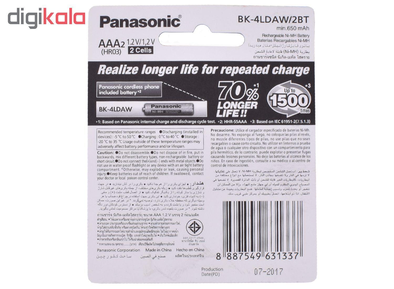 باتری نیم قلمی قابل شارژ پاناسونیک مدل BK-4LDAW/2BT بسته 2 عددی main 1 3