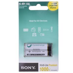 باتری نیم قلمی قابل شارژ سونی مدل NH-AAA HR6 بسته 2 عددی