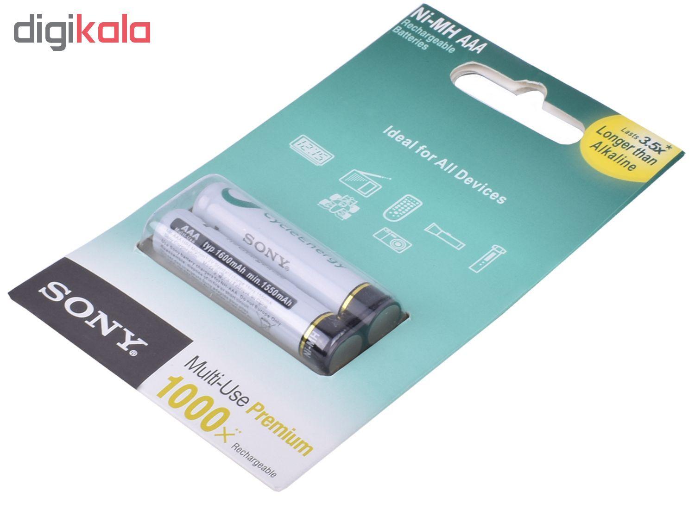 باتری نیم قلمی قابل شارژ سونی مدل NH-AAA HR6 بسته 2 عددی main 1 2
