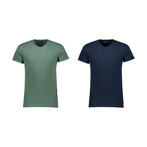 تی شرت آستین کوتاه مردانه بای نت مجموعه 2 عددی کد 335 btt