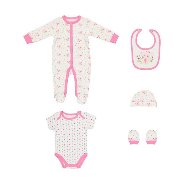 ست 5 تکه لباس نوزادی لاونا کد 548
