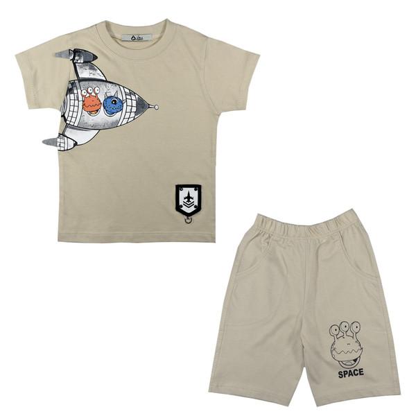 ست تی شرت و شلوارک پسرانه نیروان کد 16043