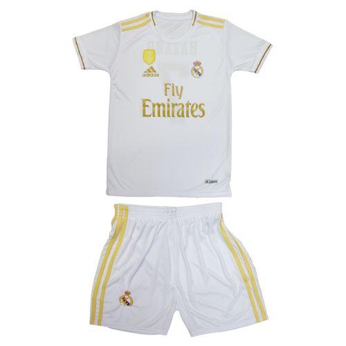 پیراهن و شورت ورزشی پسرانه طرح رئال مادرید کد Hazard-2020