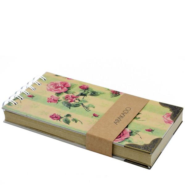 دفتر یادداشت آراکادو طرح گل کد 12