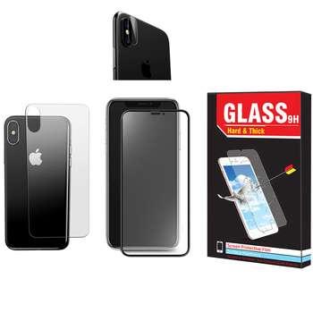 محافظ صفحه نمایش و پشت گوشی Hard and Thick مدل F-01 مناسب برای گوشی موبایل اپل Iphone XR به همراه محافظ لنز دوربین