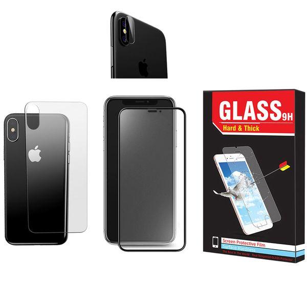 محافظ صفحه نمایش و پشت گوشی Hard and Thick مدل F-01 مناسب برای گوشی موبایل اپل Iphone X/Xs به همراه محافظ لنز دوربین