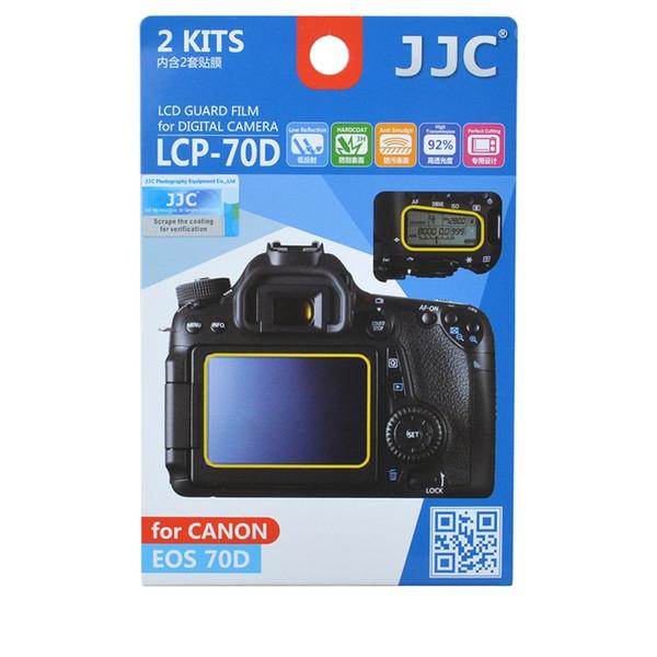 محافظ صفحه نمایش دوربین جی جی سی مدل LCP-70D مناسب برای دوربین کانن EOS 70D مجموعه 4 عددی