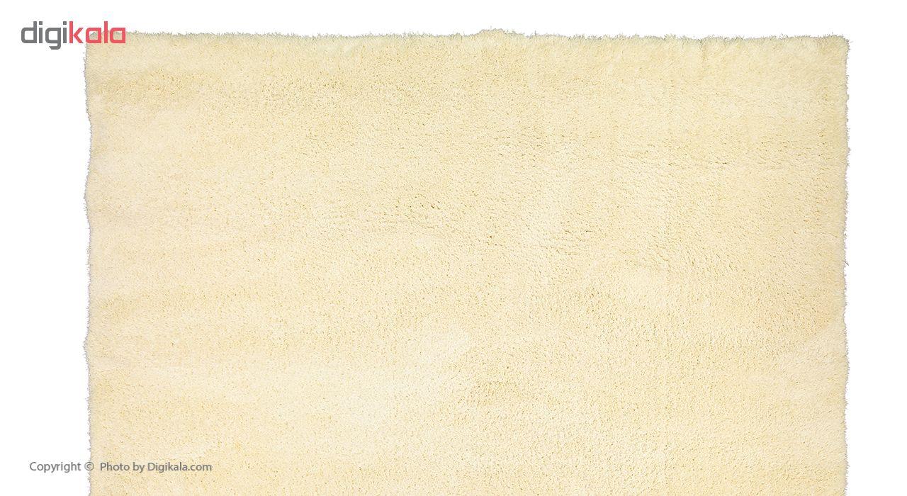 فرش ماشینی طرح شگی کد SH05 زمینه سفید