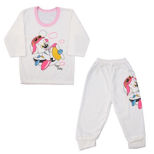 ست تیشرت و شلوار نوزادی کد R01