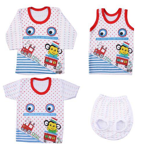 ست 4 تکه لباس نوزاد کد B0010