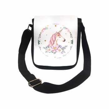 کیف دوشی دخترانه طرح اسب تک شاخ کد k186
