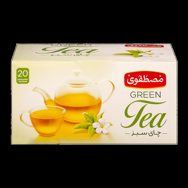 چای سبز کیسه ای مصطفوی بسته 20 عددی