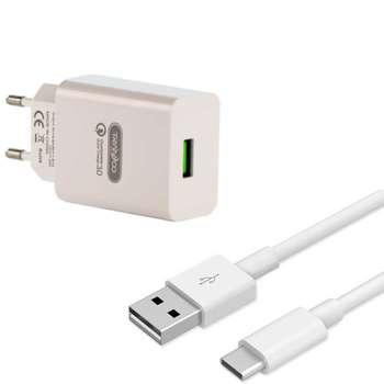 شارژر دیواری ترانیو مدل SE4 به همراه کابل تبدیل USB-C