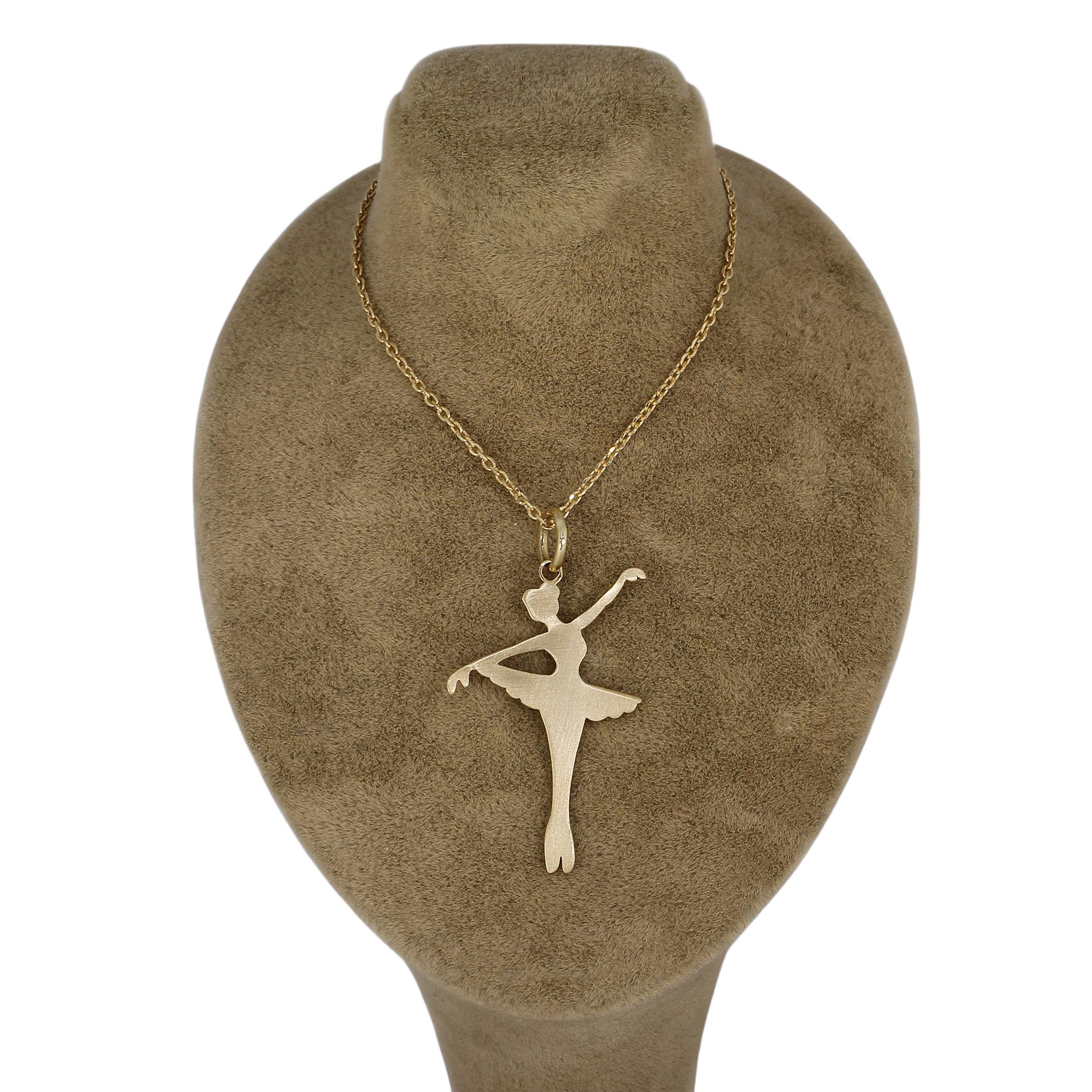 گردنبند طلا ۱۸عیار زنانه جواهری گاندی مدل D3