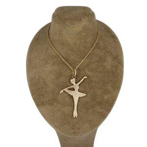 گردنبند طلا 18عیار زنانه جواهری گاندی مدل D3