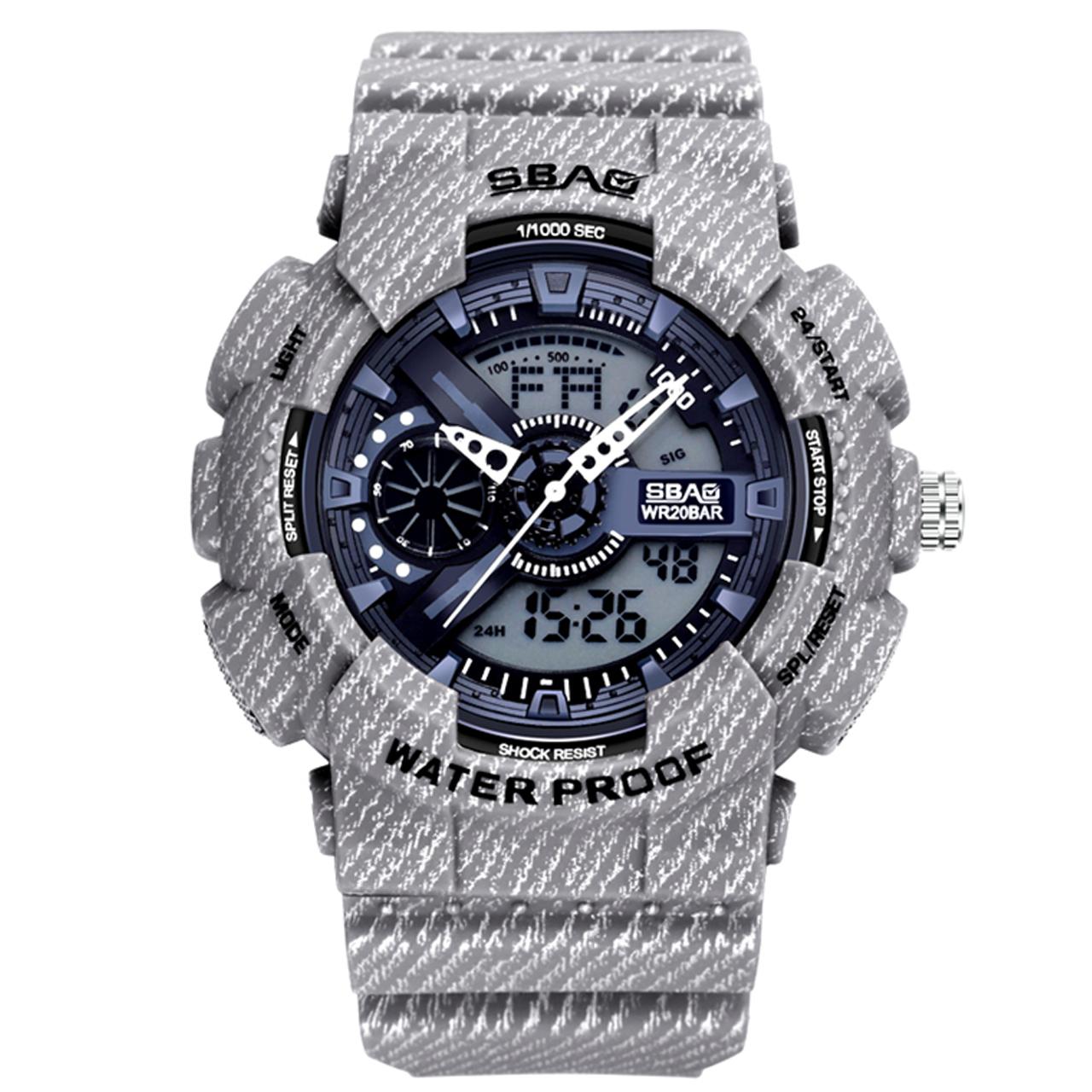 ساعت مچی عقربه ای مردانه اِسباُ مدل 8017GR-3 رنگ طوسی