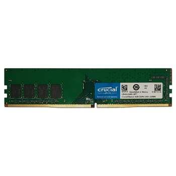 رم دسکتاپ DDR4 تک کاناله 2400 مگاهرتز CL17 کروشیال مدل Basics ظرفیت 4 گیگابایت