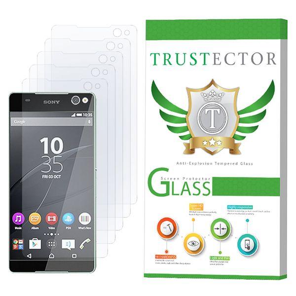محافظ صفحه نمایش تراستکتور مدل GLS مناسب برای گوشی موبایل سونی Xperia C5 Ultra بسته 5 عددی