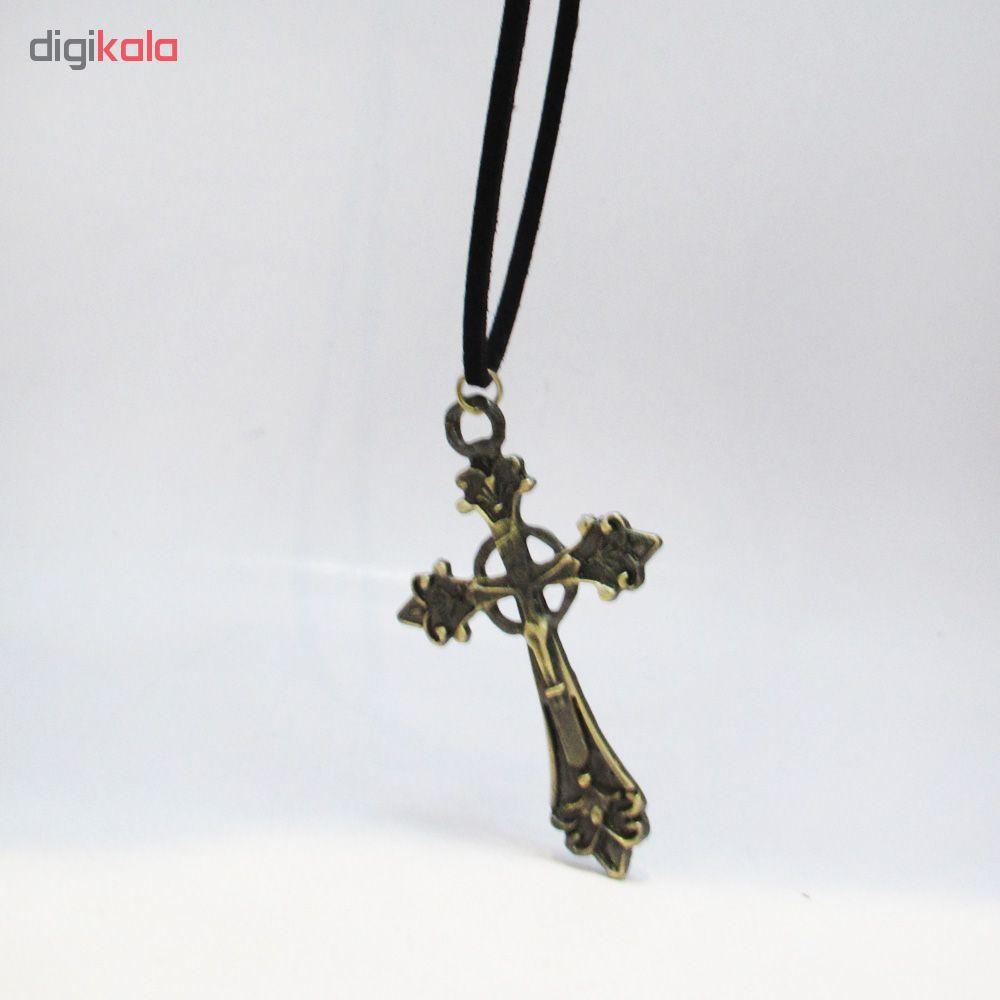 گردنبند طرح صلیب مدل Gs2