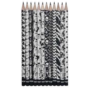 مداد مشکی آریا مدل BLACK & WHITE کد A2 بسته 12 عددی