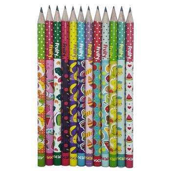 مداد مشکی آریا مدل FRUITY کد A3 بسته 12 عددی