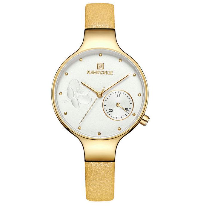 ساعت زنانه برند نیوی فورس مدل NF5001L-ZAR-TA