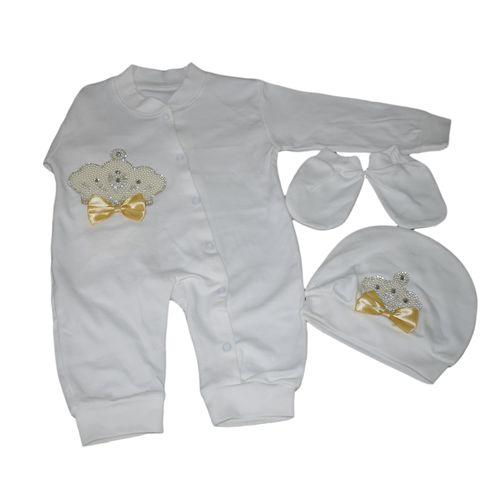ست 3 تکه لباس نوزادی دخترانه کد 350