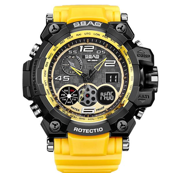 ساعت مچی عقربه ای مردانه اِسباُ مدل 8011Y-1 رنگ زرد