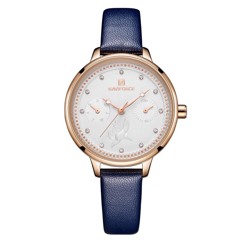 ساعت مچی عقربه ای زنانه نیوی فورس مدل NF5003L-SO-TA