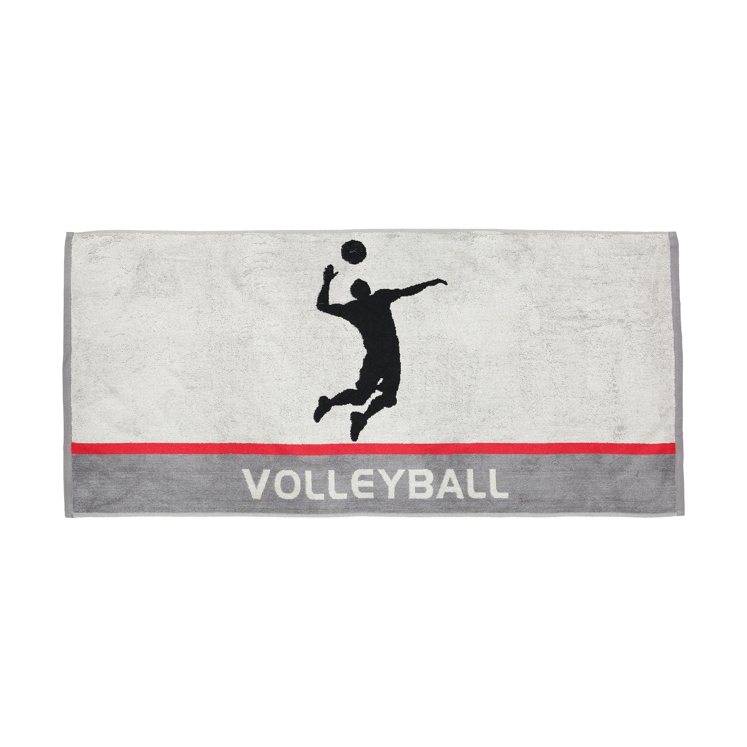 حوله استخری برق لامع مدل Volleyball سایز 65 × 140 سانتی متر