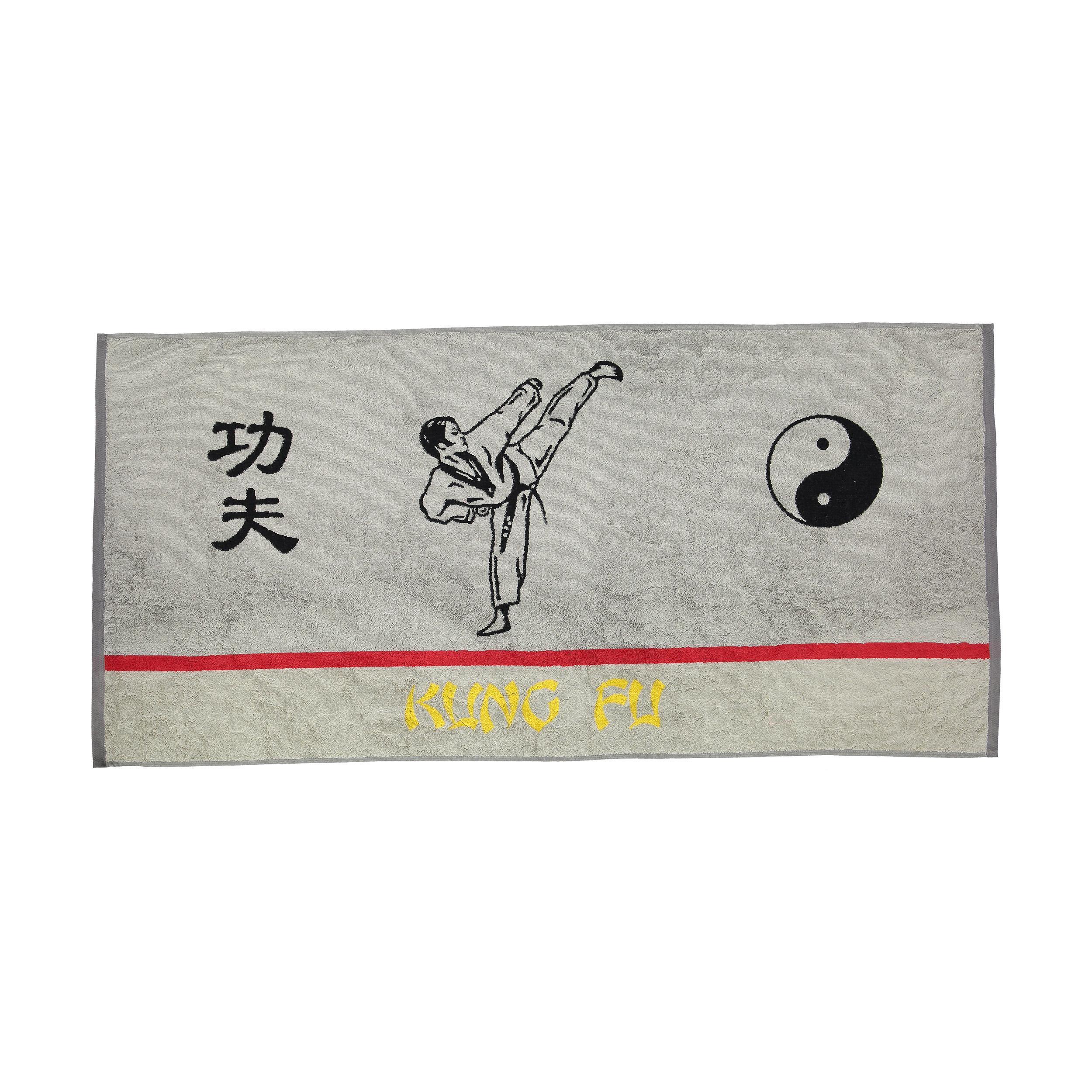 حوله استخری برق لامع مدل Kung Fu سایز 65 × 140 سانتی متر