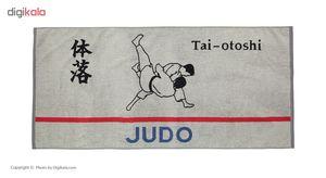 حوله استخری برق لامع مدل Judo سایز 65 × 140 سانتی متر  Bargh Lame Judo Pool Towel Size 65 x 140 Cm