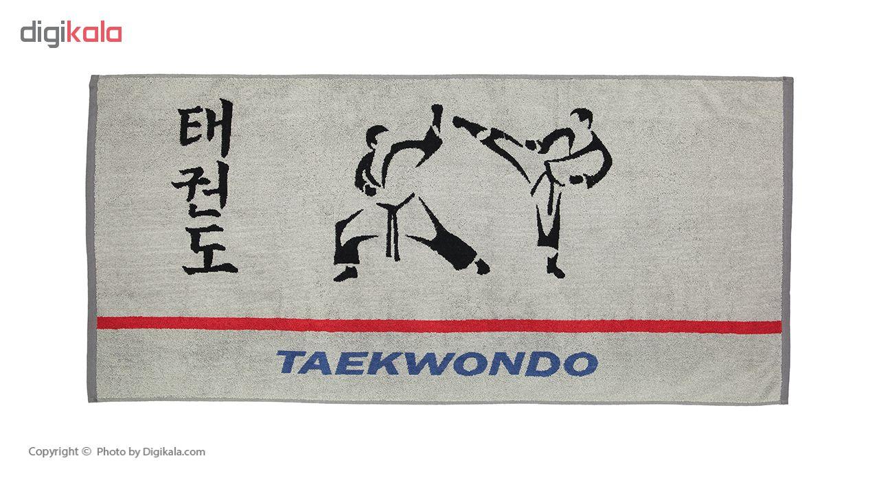 حوله استخری برق لامع مدل Taekwondo سایز 65 × 140 سانتی متر  Bargh Lame Taekwondo Pool Towel Size 6