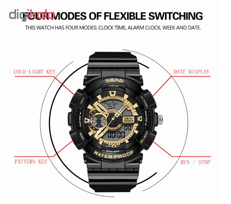 ساعت مچی عقربه ای زنانه اِسباُ مدل 8023M              ارزان